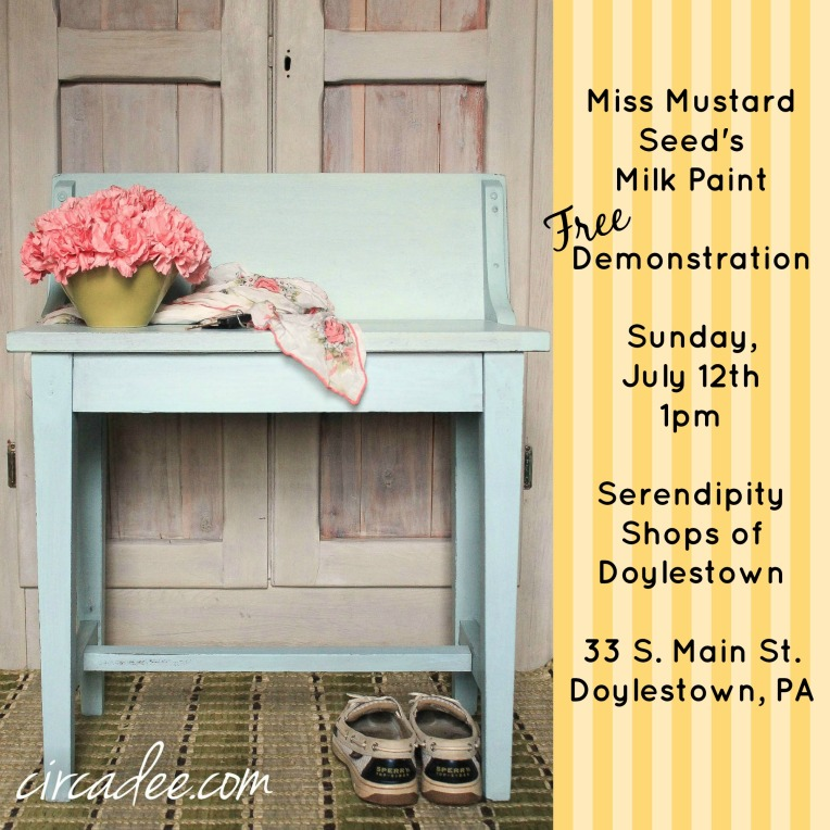 july milk paint demonstration #doylestown