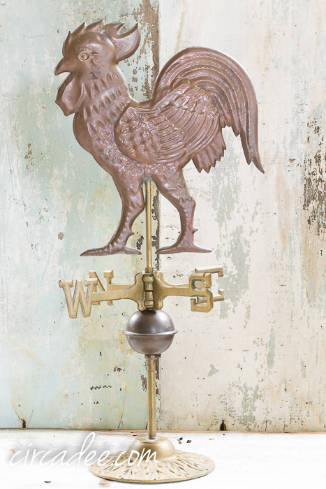 vintage chicken weather vane