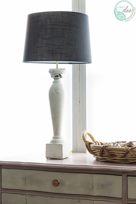salvaged baluster lamp