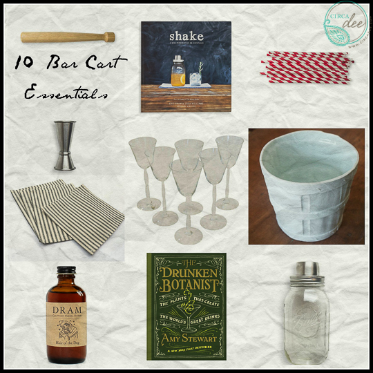 10 Bar Cart Essentials-
