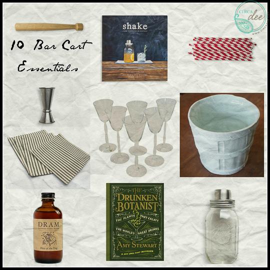 10 Bar Cart Essentials-
