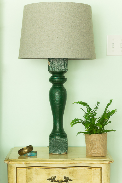 green salvage baluster lamps-096