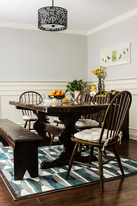 Simple Organic Gray Dining Room