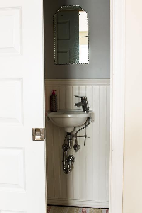 pocket door water closet bathroom