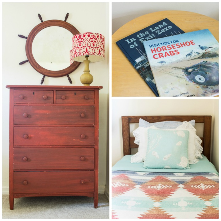twin beach bedroom on a budget